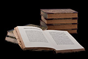 E Black Photo Prints - Old Books Print by Gert Lavsen