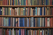 Antique Books Prints - Old Books on a Bookshelf Print by Paul Edmondson