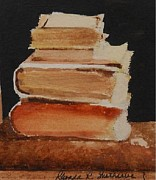Antiques Paintings - Old Books by Rhonda Wetherbe