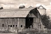 Images Lightning Prints - Old Boulder County Colorado Barn Print by James Bo Insogna