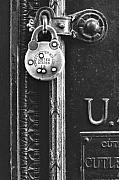 Letter Box Art - Old Brass Padlock by Gerard Fritz