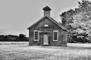 Kitchen Art Photographs Prints - Old Brick One Room School House Print by C Wayne Hennebert