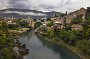 Most Photo Framed Prints - Old Bridge of Mostar Framed Print by Ayhan Altun