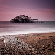Old England Prints - Old Brighton Pier Print by Nina Papiorek