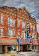 Movie Theater Prints - Old Brown Theater - Wapak Theater Print by Pamela Baker