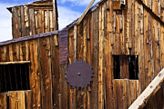 Wooden Framed Prints - Old building Bodie ghost town Framed Print by Garry Gay