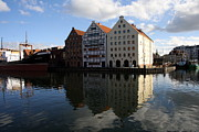 Habor Prints - Old Buildings At the Riverside - Gdansk Print by Christiane Schulze