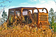 Bulldozers Framed Prints - Old Bulldozer Framed Print by Randy Harris