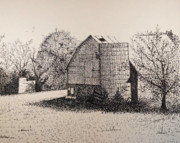 Old Shed Drawings - Old But Beautifull by Saundra Smoker