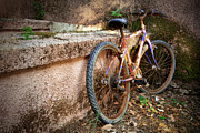 Grungy Photos - Old Bycicle by Carlos Caetano
