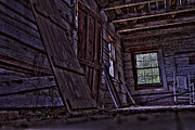 Cabin Window Photo Originals - Old Cabin HDR by Jason Blalock