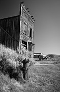 Old Wood Cabin Posters - Old cabin in Bodie Poster by Olivier Steiner