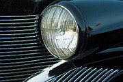 Caddy Posters - Old Caddy Headlight Poster by Pat Exum