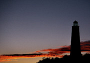 Lighthouse Artwork Posters - Old Cape Henry Sunrise Poster by Skip Willits