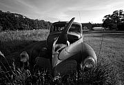 Stephen Mack Metal Prints - Old Car and Barn Metal Print by Stephen Mack
