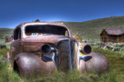 Hdr Photo Prints - Old Car in Bodie Print by Joe  Palermo