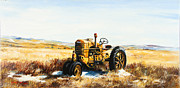 Old Case Tractor Print by Gary Wynn