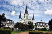 Lucky Larue Art - Old Cathedral in Jackson Square New Orleans by Lucky LaRue