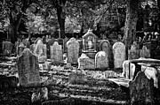 White Russian Posters - Old Cemetery in Philadelphia 3 Poster by Val Black Russian Tourchin