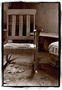 Chair Photo Framed Prints - Old Chair Bodie California Framed Print by Steve Gadomski