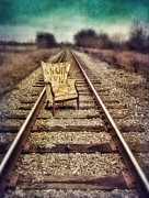 Left Wing Prints - Old Chair on Railroad Tracks Print by Jill Battaglia