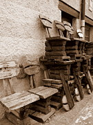 Handcrafted Art - Old Chairs by Tanya  Searcy