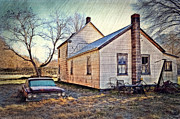 Old House Photos - Old Chevy Impala by Kathy Jennings