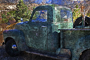 Abandoned Cars Prints - Old Chevy Pickup Truck Print by John Stephens