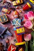 Toy Photo Prints - Old childrens toys Print by Garry Gay