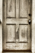 Rustic Art Prints - Old Church Door Print by Bonnie Bruno