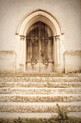 Medieval Temple Framed Prints - Old church door Framed Print by Tom Gowanlock