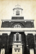 Brick Buildings Metal Prints - Old Church in Boston Metal Print by Elena Elisseeva
