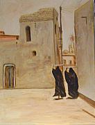 Old Iraqi City Paintings - Old City 4 by Yahya Batat