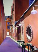 Alleyway Paintings - Old City Alleyway Knoxville by George Grace