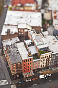 New York City Rooftop Photos - Old City Buildings by Eddy Joaquim