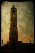 Neenah Framed Prints - Old City Hall Clock Tower Framed Print by Joel Witmeyer