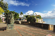 Old San Juan Metal Prints - Old City in the Caribbean Metal Print by George Oze