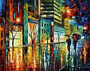 Afremov Art - Old City by Leonid Afremov