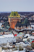 Quebec Photos - Old City Skyline by Jeremy Woodhouse