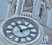 Kingston Digital Art Prints - Old Clock Print by Mariette Richard
