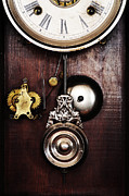 Old Face Framed Prints - Old Clock Framed Print by Neil Overy