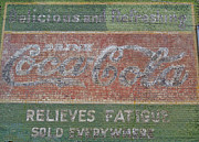 Coca-cola Signs Art - Old Coca Cola painted Brick Wall by Doris Blessington