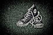 Shoe Prints - Old Converse Print by Gert Lavsen