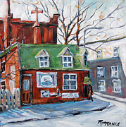 Original  By Artist Paintings - Old Corner Store Montreal by Prankearts by Richard T Pranke