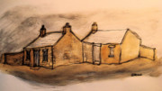 Wales Digital Art - Old Cottages In Wales.... by Phil Austen