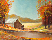 Old Barn Paintings - Old Country Barn by Charles Yates