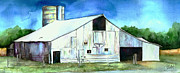 Cornfield Paintings - Old Country Barn by Christy  Freeman