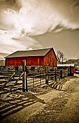 Farming Barns Prints - Old Country Farm Print by Marilyn Hunt