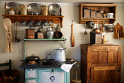 Crocks Photo Prints - Old Country Kitchen Print by Carmen Del Valle
