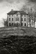 Riches Prints - Old country manor on a hill Print by Sandra Cunningham